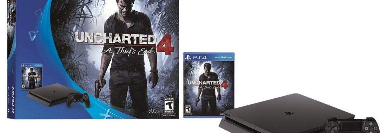 PlayStation 4 Slim 500GB Console - Uncharted 4 Bundle