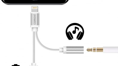 Comoxi 2 in 1 Lightning Adapter for iPhone 7